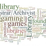 Wordle word cloud from 2013 of words found on INALJ all of them are library and job related